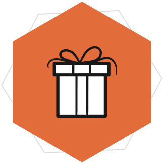 gifts and cake icon